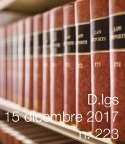 Decreto Legislativo n. 223 del 15 dicembre 2017