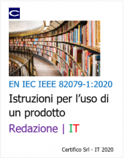 EN IEC IEEE 82079-1:2020 | Istruzioni per l'uso di un prodotto