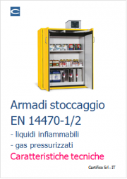 Armadi stoccaggio liquidi infiammabili e gas pressurizzati: EN 14470-1/2