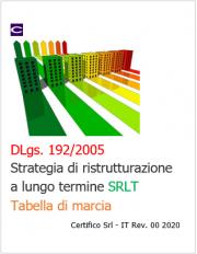 D.Lgs. 192/2005: Strategia di ristrutturazione a lungo termine/Tabella di marcia