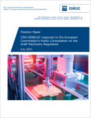 Position Paper CEN-CENELEC draft Machinery Regulation July 2021