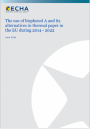 The use of bisphenol A and its alternatives in thermal paper in the EU during 2014 - 2022