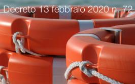Decreto 13 febbraio 2020 n. 72