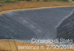 Sentenza CdS 2790/2017 | gestione sostenibile discariche annullate Linee guida RL