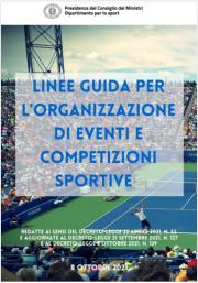 Linee guida organizzazione di competizioni ed eventi sportivi aperti al pubblico