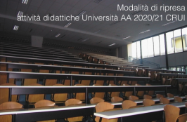 Modalità ripresa attività didattiche AA 2020/21 Università