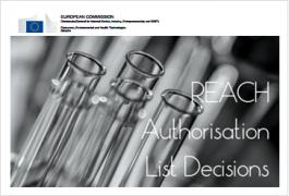 REACH Authorisation Decisions List: Last update 03.02.2021
