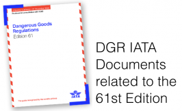 Dangerous Goods check list / Documentation 61th IATA DGR 2020
