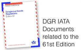 Dangerous Goods check list / Documentation 61th IATA DGR 2020