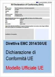 Modello ufficiale Dichiarazione di Conformità UE Direttiva EMC 2014/30/UE