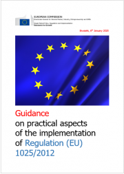 Guidance on practical aspects of the implementation of Regulation (EU) No. 1025/2012