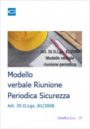 Modello Riunione Periodica Sicurezza Art. 35 TUS