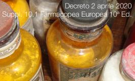 Decreto 2 aprile 2020 | Suppl. 10.1 Farmacopea Europea 10ª Ed.