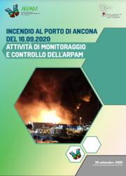 Incendio al Porto di Ancona 16 settembre 2020 - Relazione ARPAM