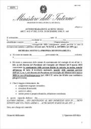 DPCM 9 Marzo 2020: autodichiarazione spostamento persone fisiche