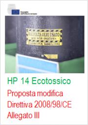 Proposta modifica Direttiva 2008/98/CE All. III HP14 Ecotossico