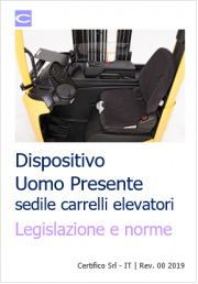 Dispositivo Uomo Presente sedile Carrelli elevatori