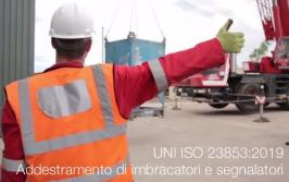 UNI ISO 23853:2019 | Addestramento di imbracatori e segnalatori