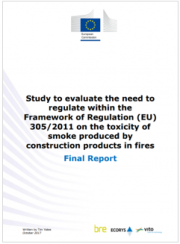 Toxicity of smoke produced by construction products in fires