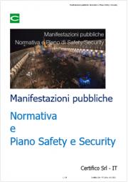 Manifestazioni pubbliche: Normativa e Piano Safety e Security