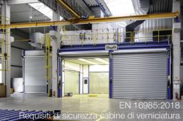 EN 16985:2018 | Requisiti di sicurezza cabine di verniciatura