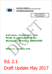 Guide to application of the machinery directive 2006/42/EC - Update May 2017