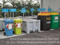 Rinvio di scadenze comunicazioni sui rifiuti 2020