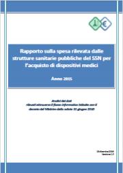 Rapporto spesa Dispositivi Medici 2015