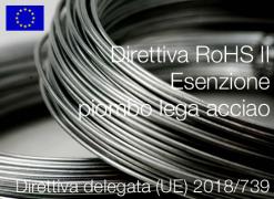 Direttiva delegata (UE) 2018/739   Modifica All. III Direttiva RoHS II