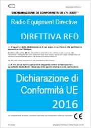 Dichiarazione di Conformità UE Direttiva 2014/53/UE RED