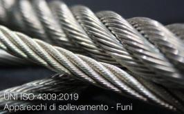 UNI ISO 4309:2019 | Apparecchi di sollevamento - Funi