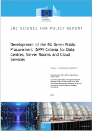 GPP | Nuovi criteri UE centri dati, sale server e servizi cloud