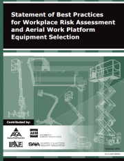 Statement of Best Practices for Workplace Risk Assessment and Aerial Work Platform Equipment Selection