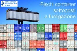 Rischi container sottoposti a fumigazione