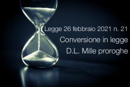 Legge 26 febbraio 2021 n. 21