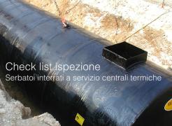 Check list serbatoi interrati a servizio centrali termiche
