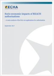 Rapporto ECHA: Impatti socioeconomici delle autorizzazioni REACH