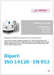 Ripari: da Procter un Documento di confronto tra la nuova norma ISO 14120 e la norma EN 953