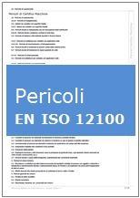 Estratto Tecnico: Elenco pericoli indicati nelle norma EN ISO 12100