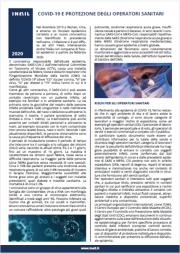 Coronavirus: fact sheet per la protezione degli operatori sanitari INAIL