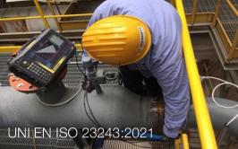 UNI EN ISO 23243:2021  Prove ad ultrasuoni disposizioni a schiera (array)