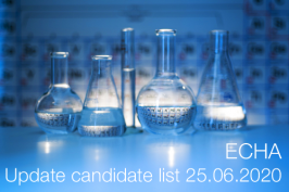 ECHA: Update candidate list 25.06.2020
