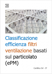 Classificazione efficienza filtri ventilazione basati sul particolato (ePM)
