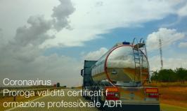 Proroga validità certificati formazione professionale ADR