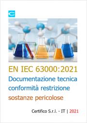 CEI EN IEC 63000:2021 - Documentazione tecnica conformità restrizione sostanze pericolose