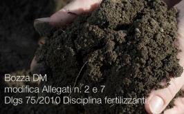 Bozza DM modifica Allegati n. 2 e 7 Dlgs 75/2010 Disciplina fertilizzanti