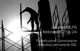Decreto MLPS 4 febbraio 2021 n. 24