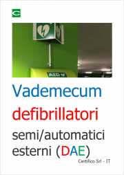 Vademecum utilizzo defibrillatori semi/automatici esterni (DAE)