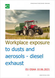 Workplace exposure to dusts and aerosols - diesel exhaust