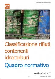 Classificazione rifiuti contenenti idrocarburi: Quadro normativo